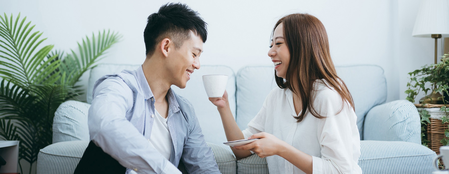 couple sharing tea